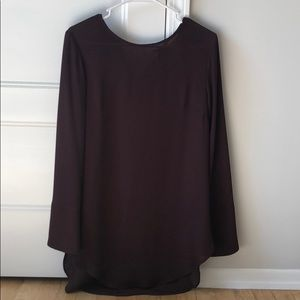 H&M wine colored tunic long size 8